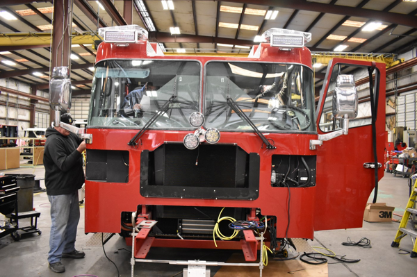Fire truck being built for the Champaign IL Fire Department