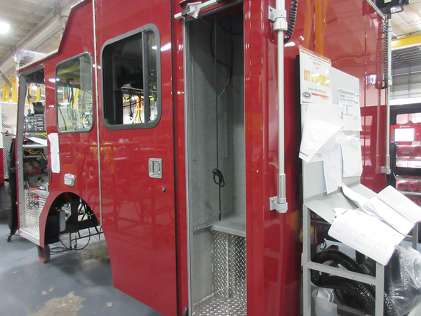 E-ONE Cyclone II cab being built