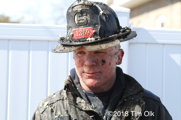 Firefighter with dirty face
