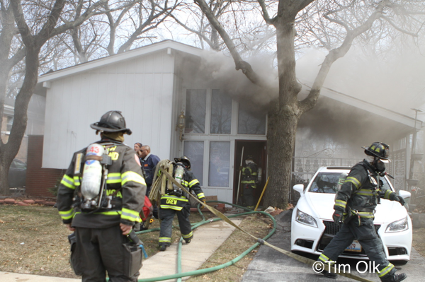 house fire in Dolton