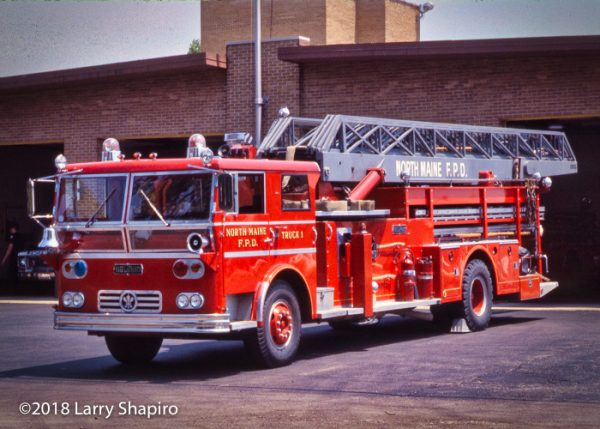Ward LaFrance Ambassador mind-mount Grove aerial ladder