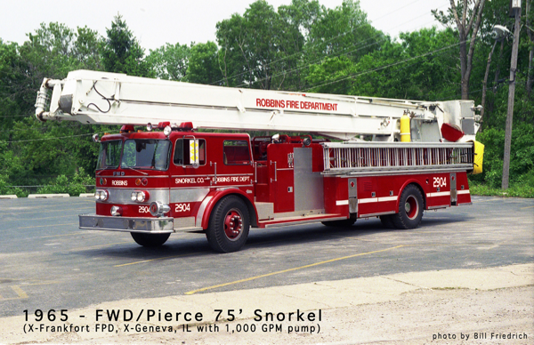 Robbins FD Snorkel 2904 formerly used in Frankfort and Geneva IL