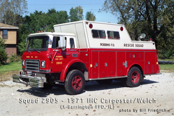 Robbins FD Squad 2905 formerly used in Barrington
