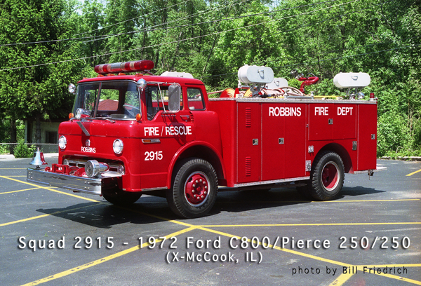 Robbins FD Squad 2915 formerly used in McCook