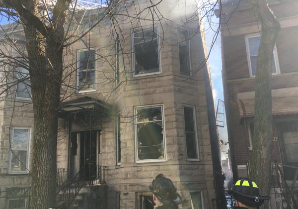 fire scene in Chicago