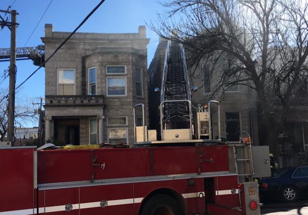 injured Chicago Firefighter taken to Mt Sinai Hospital