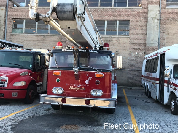 1982 Seagrave 85' Snorkel going to auction