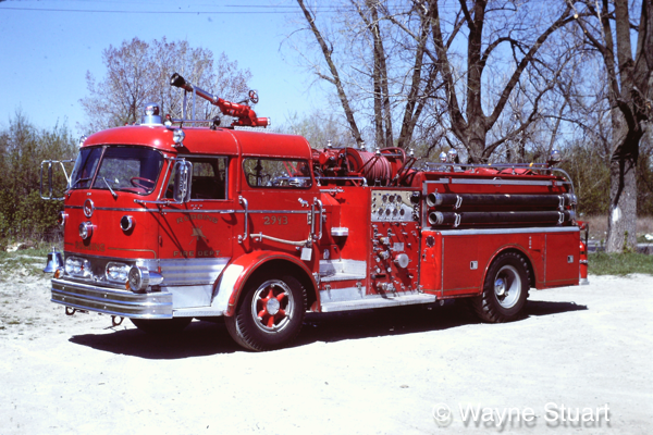 1956 C-Model Mack fire engine pumper