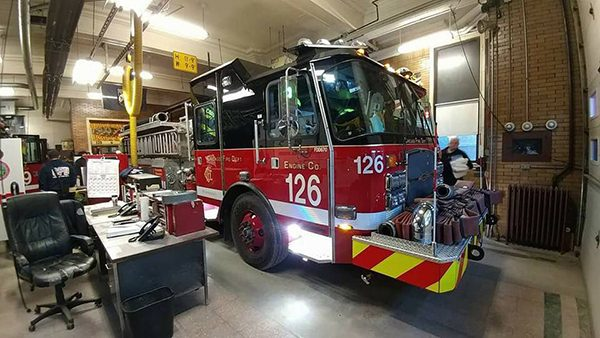 Chicago FD Engine 126 in quarters