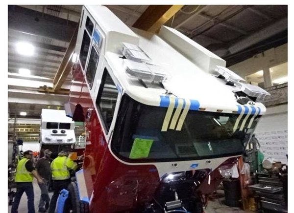 fire truck being built for the Central Stickney FPD