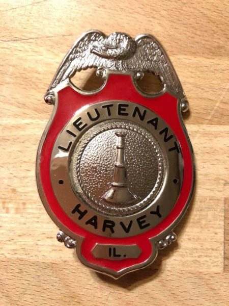 Harvey FD lieutenant badge