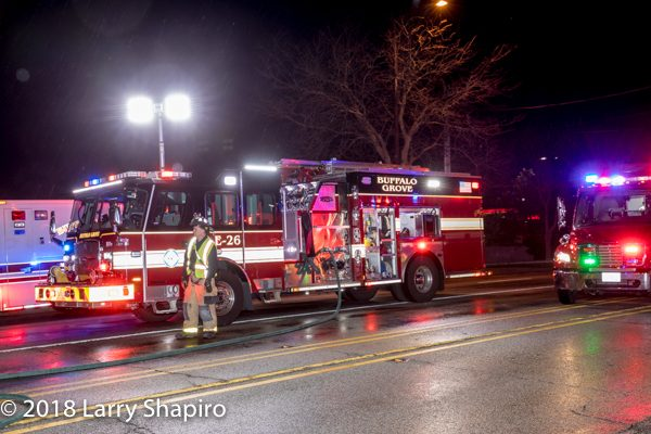 Buffalo Grove FD Engine 26 on scene at night