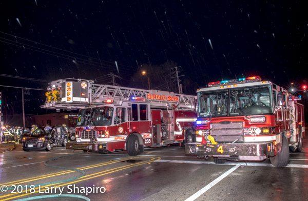 Buffalo Grove FD Tower 25 and Arlington Heights FD Engine 4