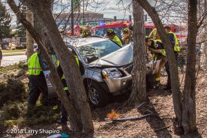 Chevy Equinox crashed into a tree