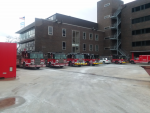Chicago fire engines at the Quinn Fire Academy