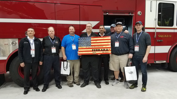 East Joliet FPD members receive gift at FDIC