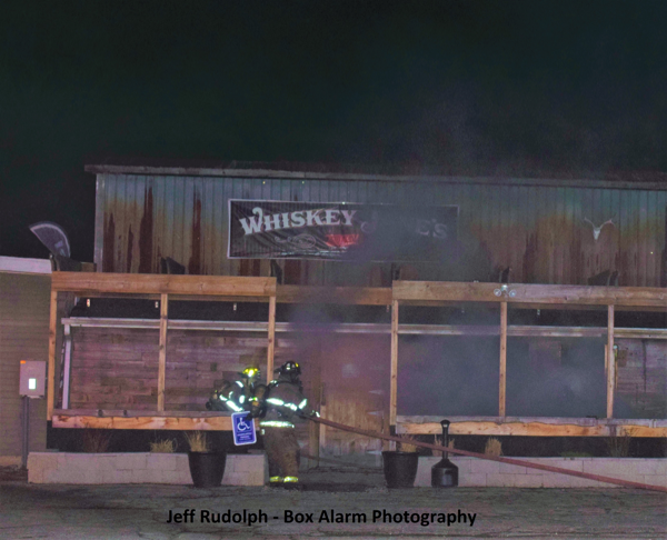 fire at Whiskey Janes Bar