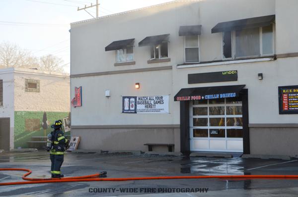 fire scene in North riverside IL