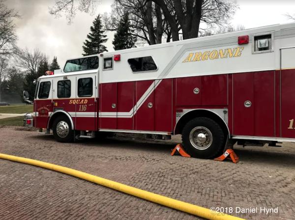 Argonne Fire Department squad