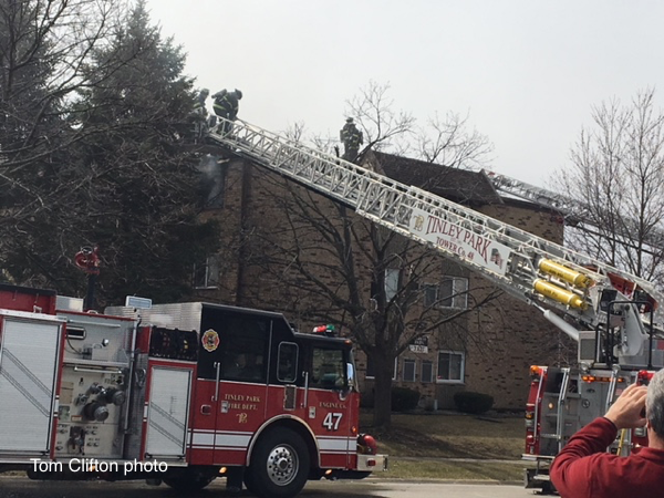 apartment fire in Tinley Park IL