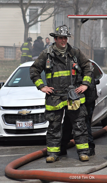 Chicago Firefighter at fire scene