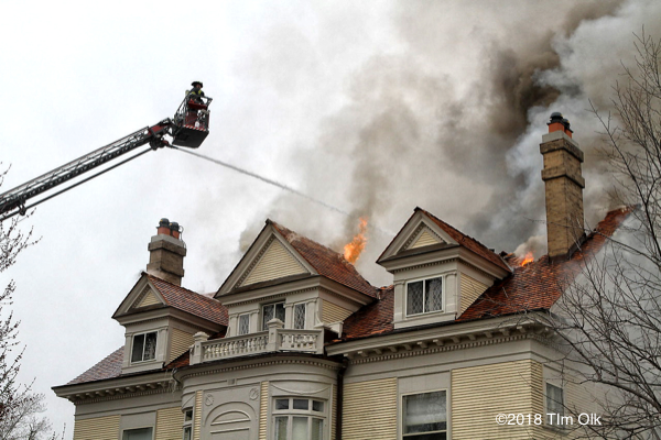 3-Alarm house fire in Hinsdale