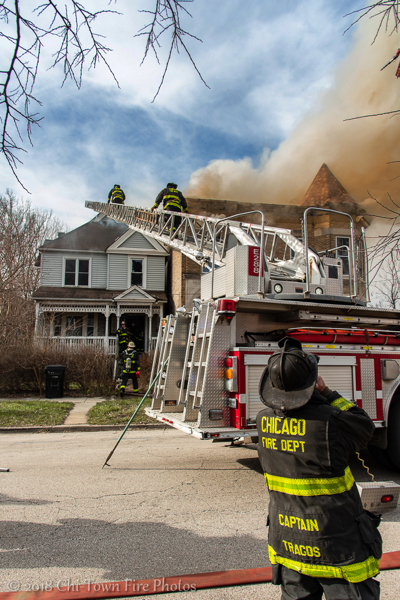 fire truck at house fire