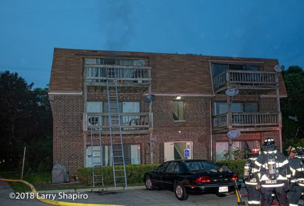 apartment fire at 285 E Court of Shorewood in Vernon Hills