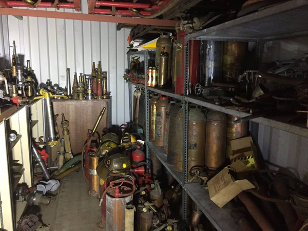 fire memorabilia collection of Luc Drolet for sale