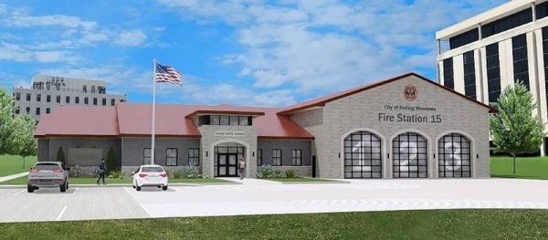 rendering of new fire station for Rolling Meadows