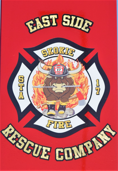 Skokie FD Rescue 17 decal