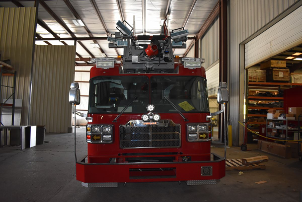 Ferrara fire truck being built