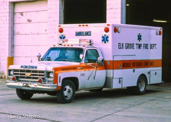 Elk Grove Township FPD vintage ambulance