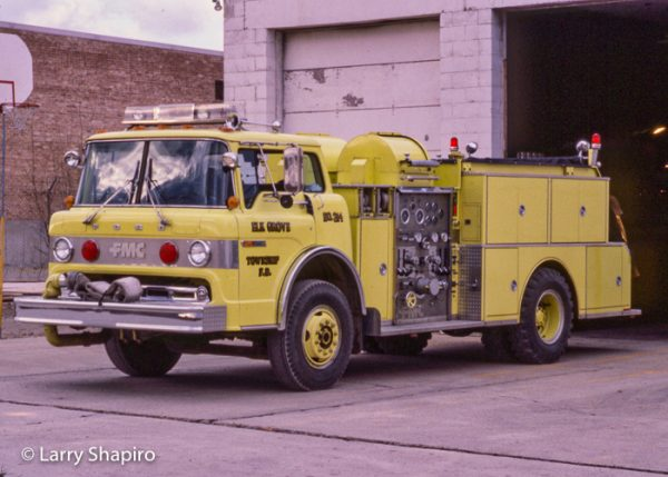 Elk Grove Township FPD vintage fire engine