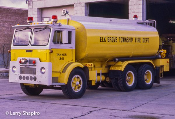 vintage fire department water tanker