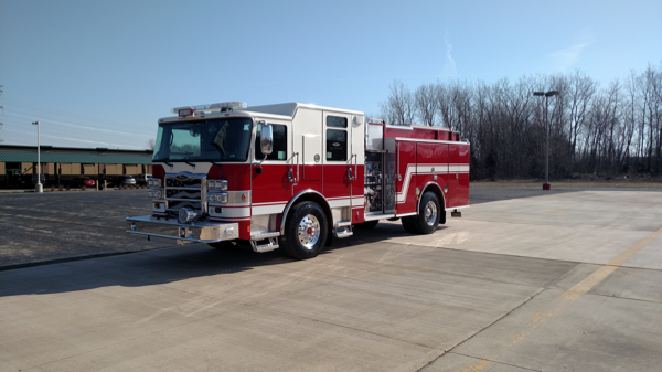 new fire engine for the East Moline Fire Department
