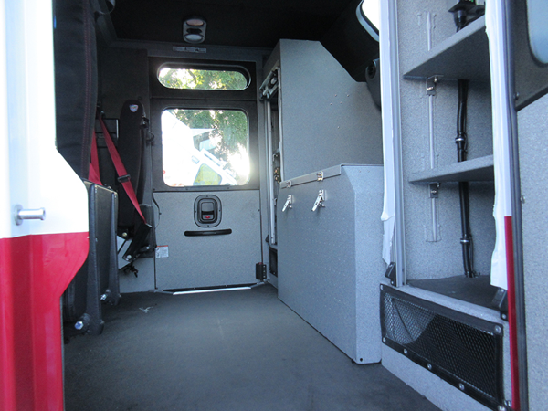 interior of e-ONE fire engine