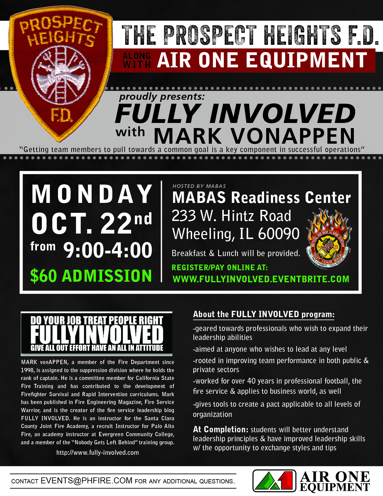Fully Involved leadership seminar for Firefighters