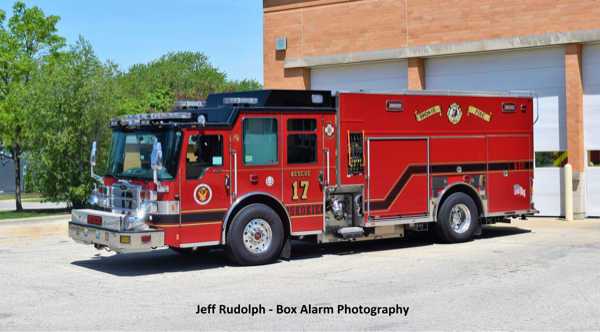 Skokie FD Rescue 17 Pierce Dash CF PUC
