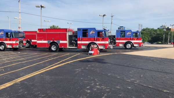 new Gary fire engines awaiting deliver
