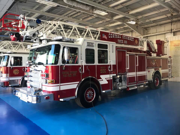 new Central Sticky FPD fire truck