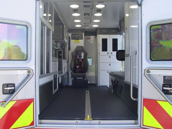 interior of new ambulance