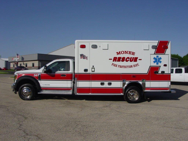 Monee FPD ambulance