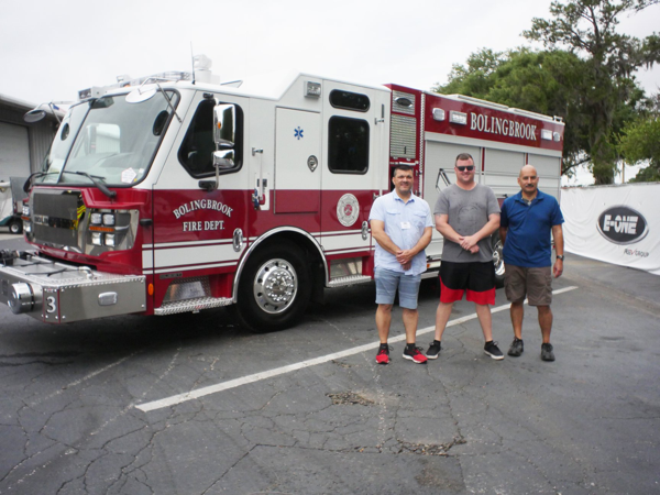 Bolingbrook Firefighters accept new E-ONE fire engine