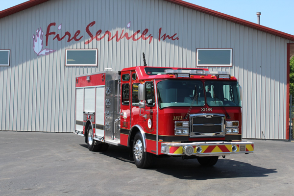New E-ONE fire engine for the Zion Fire Department