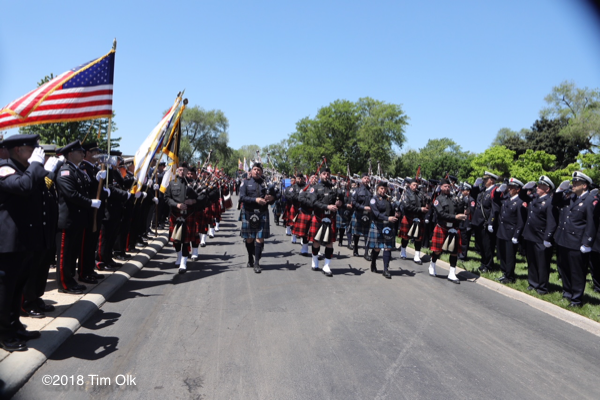 Funeral for Chicago FF/EMT Juan Bucio 6/4/18