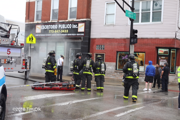 Chicago Firefighters at fire scene
