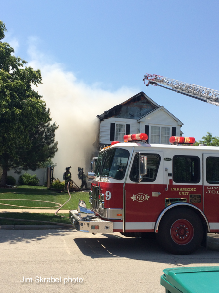 house fire in Joliet IL