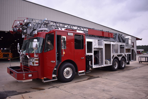 fire truck being built for the Champaign Fire Department