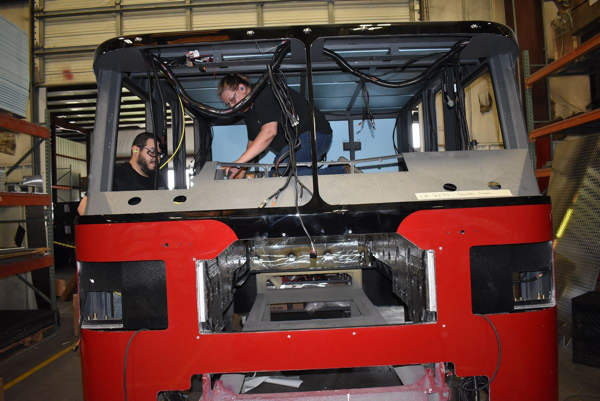 Ferrara fire truck being built H-6331
